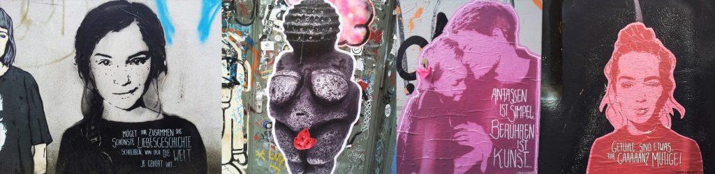 Street Art zum Thema Liebe und Partnerschaft