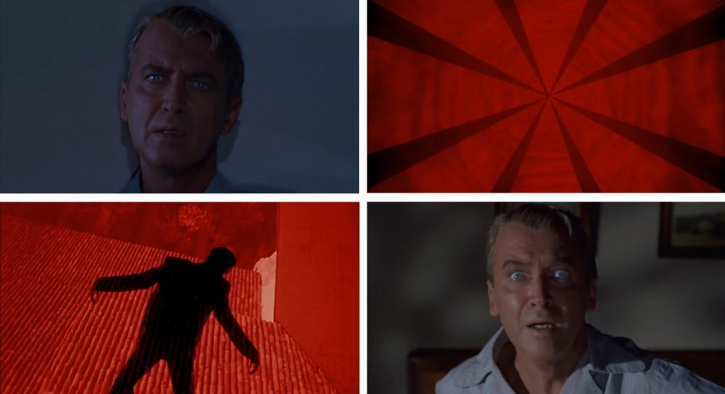 Alptraumsequenz in Alfred Hitchcocks Vertigo (1958)
